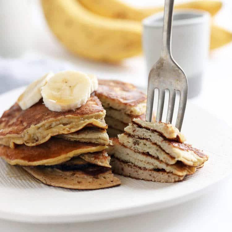 Egg & banana pankake macros